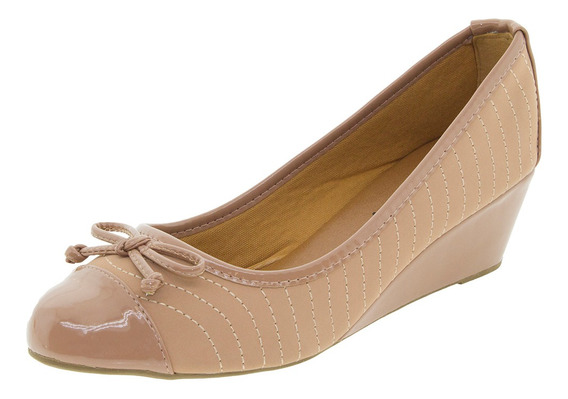 Sapato Feminino Anabela Fiorella - 16288 Salmão