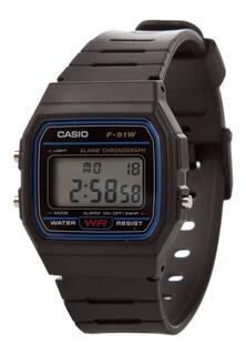 Reloj Casio F-91w-1dg Crono Alarmas 100m Wr Envio