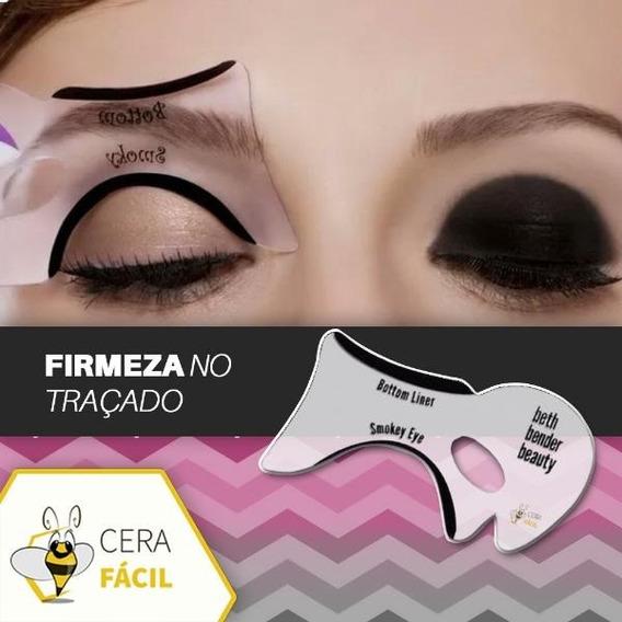 Moldes Para Aplicação De Sombra Maquiagem Santa Clara - 3un