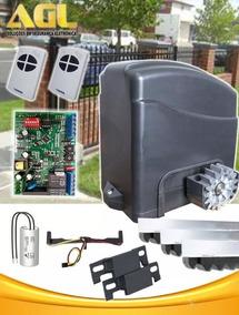 Kit Motor Portão Deslizante 1/4 Agl 2 Controle 3 Cremalheira