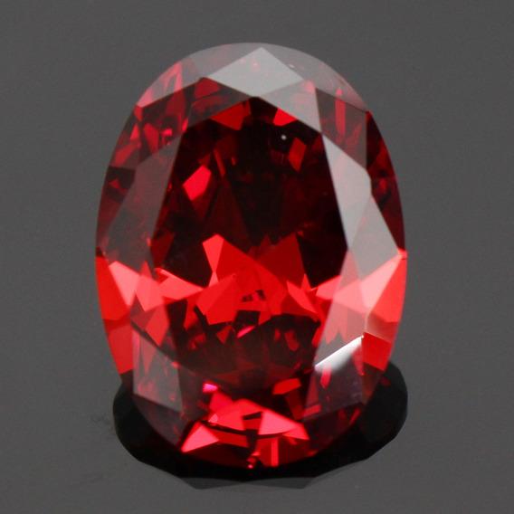 Caliente 19.89ct 13x18mm Forma Oval Corte Rojo Rubí Suelto G