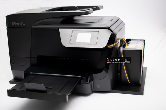 Impressora Hp Officejet Pro 8710 - Nova Com Bulk Ink