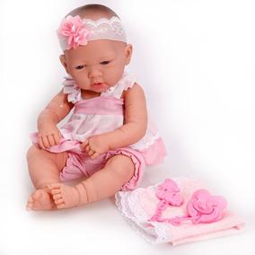 Boneca Tipo Bebe Reborn Ninos Recem Nascida + Certidão