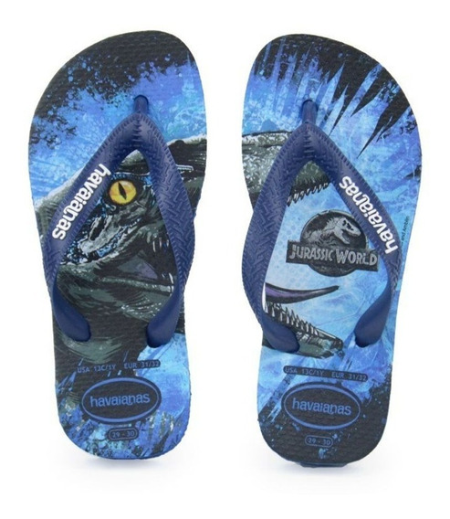 Havaianas Top Jurassic World Azul Estrela Kids Rcr Games