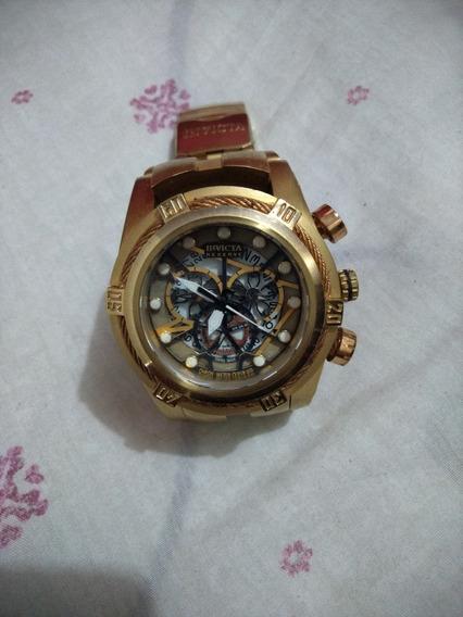 Relógio Dourado Invicta Original