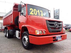 Mercedes Benz Atron 2324 6x2 Ano 2013 Cacamba