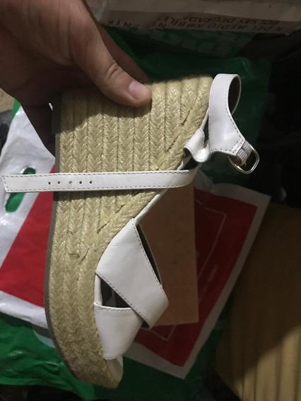 Sandalia Taco Corrido Con Yute Marca Korium Talle 39