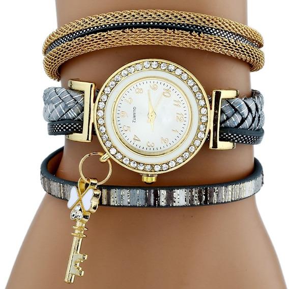 Relógio Feminino Pingente Chave