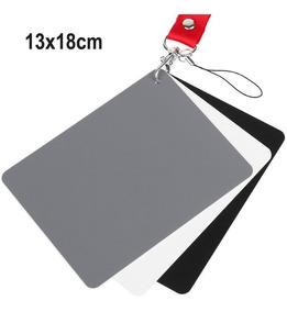 Cartão Cinza 18% 13x18cm Balanço De Branco Estudio 3x1
