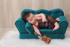 Roupa Jardineira Newborn Para Ensaio Fotográfico Menino