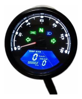 Painel Moto Digital Universal Velocimetro Cafe Racer Bobber