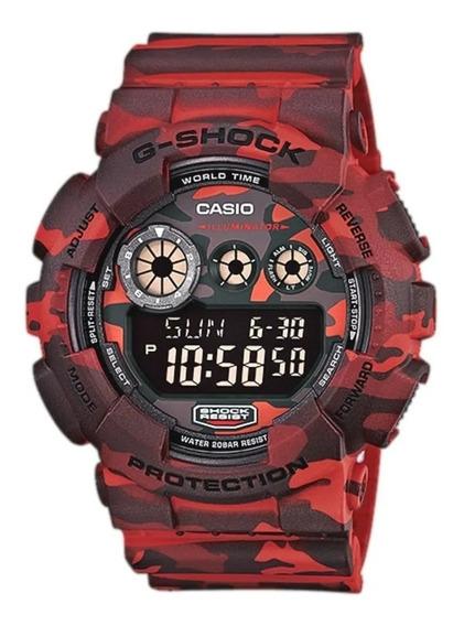 Relógio G Shock Vermelho Camuflado Liquidação De Estoque
