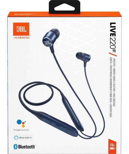 Audifonos Jbl 220bt Bluetooth Azul Y Negro