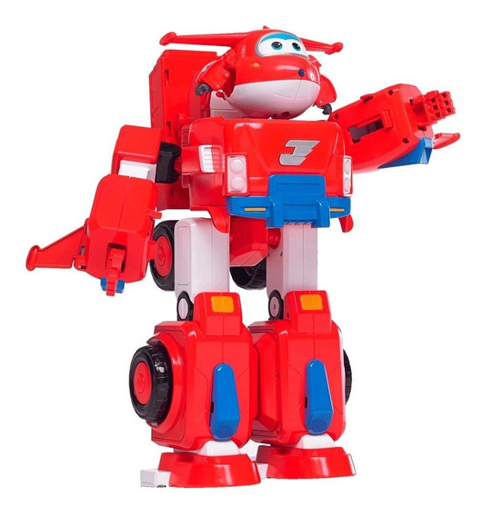 Super Wings Transformador Jett Super Robo - Fun Divirta-se