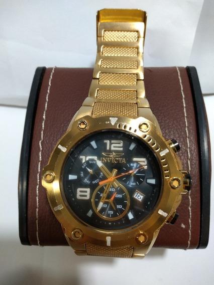 Relógio Original Invicta 19530 Masculino Banhado A Ouro