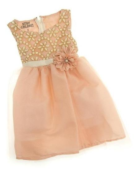 Vestido Rosa Marca Baby Colors Para Bebé Niña Pr-5051502