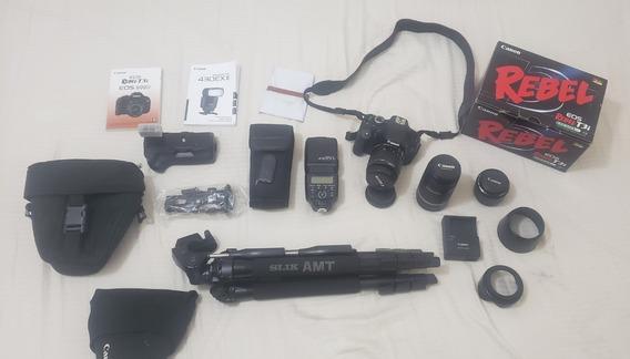 Camera T3i Seminova Kit Completo - Super Promoção