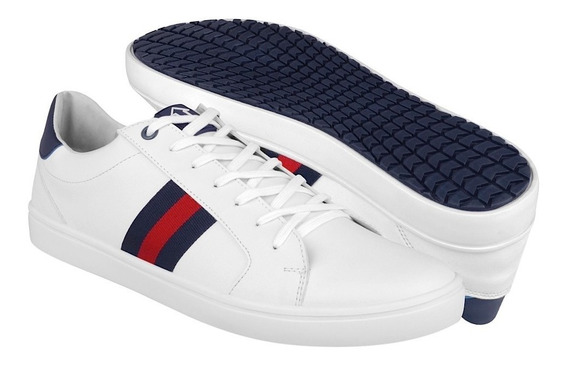 Tenis Casuales What´s Up Para Hombre Simipiel Blanco 160792