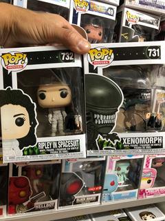 Funko Pop Movies Alien #731 Y #732 Ripley Y Xenomorph El Par