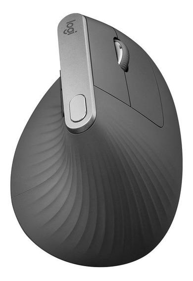 Mouse Logitech Sem Fio Mx Vertical Bluetooth Flow 4000dpi