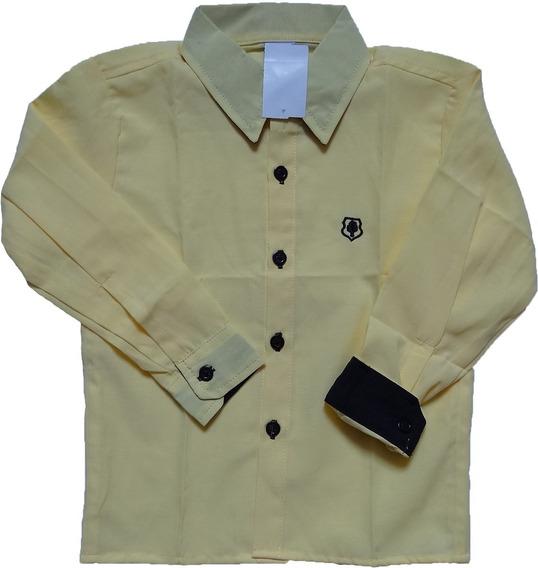 Camisa Infantil Social Pp, P, M, G - Veste Tamanhos 01 A 08