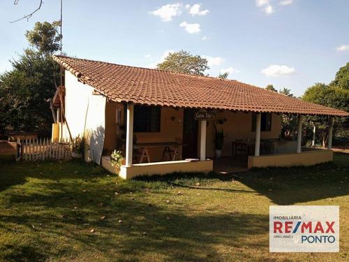 Chácara Com 1 Dormitório À Venda, 1001 M² Por R$ 235.000,00 - Rincão - Santo Antônio De Posse/sp - Ch0004