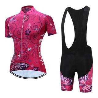 Conjunto Feminino Ciclismo Bike Short & Camisa - Roupa