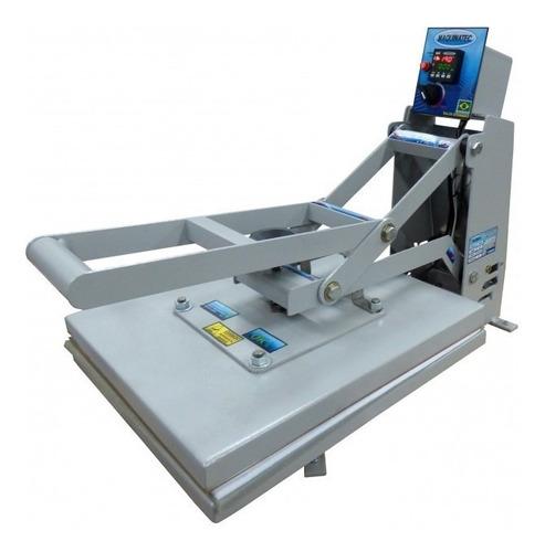 Prensa sublimadora e transfer manual Maquinatec 40x50 com base cinza 110V