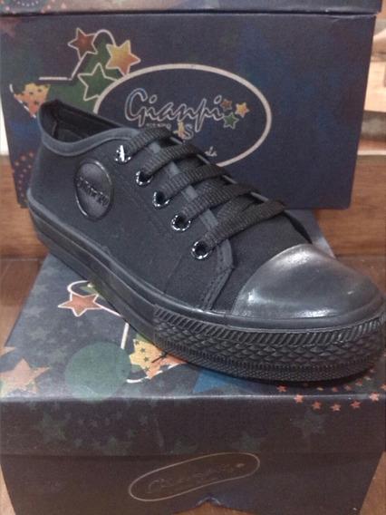 Zapatos Tipo Converse Marca Gianfi Kids Colegial 35-40