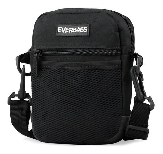 Shoulder Bag Preta Redinha Everbags Tira Colo Necessaire