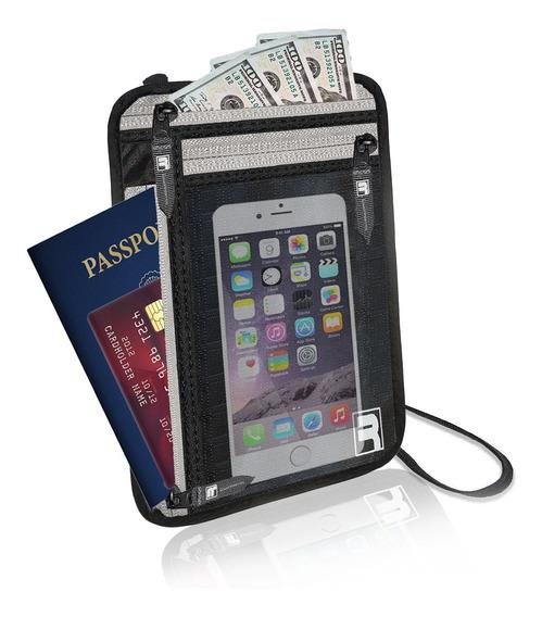 Rfid Neck Wallet / Passport Holder For Travel. Slim, Ligh