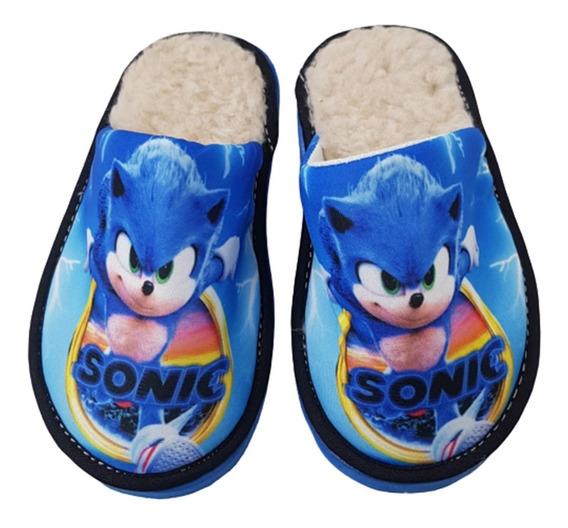Pantufla Infantil Sonic Con Corderito Extracalidad