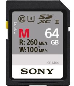 Cartão Sdxc 64gb Sony Uhs-ii U3 Série M 260mb/s (classe10) S