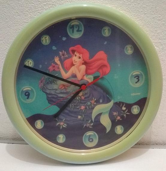 Reloj De Pared La Sirenita Disney Usado 25cm