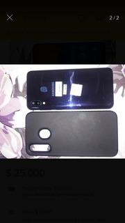Celular Samsung A20 Templado Azul 32gb