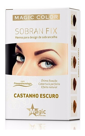 Henna P/ Sobrancelhas Sobran Fix Magic Color Castanho Escuro