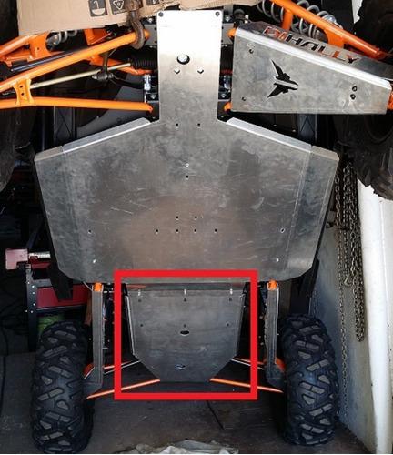 Imagem 1 de 4 de Peça Traseira Compatível C/ Skid Plate Polaris Xp1000