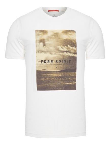 Vrt-shirt Masculina Free Spirit - Off White