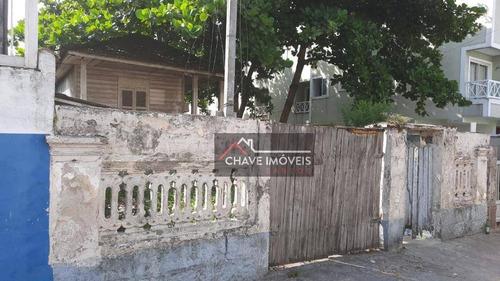Terreno À Venda, 450 M² Por R$ 850.000,00 - Macuco - Santos/sp - Te0051