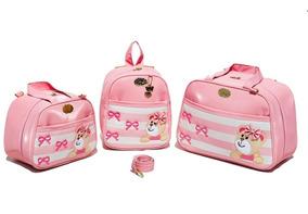 Bolsa Maternidade Gaby Mundo Infantil Mochila Urs 3p Rosa