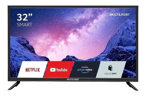 """Imagem 1 de 6 de Smart TV Multilaser TL020 DLED HD 32"""" 100V/240V"""