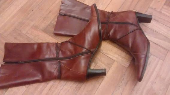 Botas De Caña Mujer Talle 39 Cuero