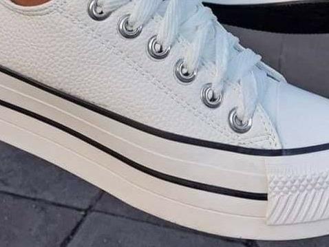 Zapatillas Con Plataforma Star (cuero Sintético) Pu. All Fun