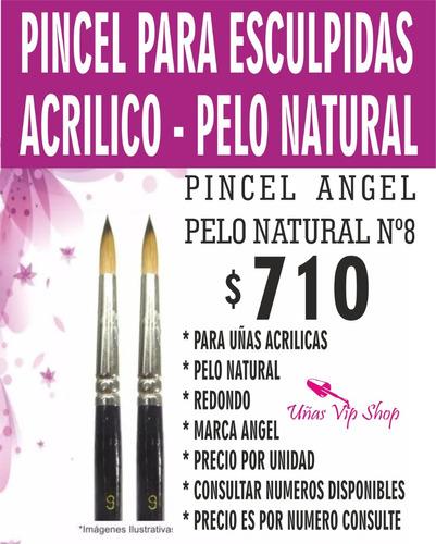 Imagen 1 de 2 de Pincel Uñas Acrilicas - Pelo Natural 100% - Uso Profesional