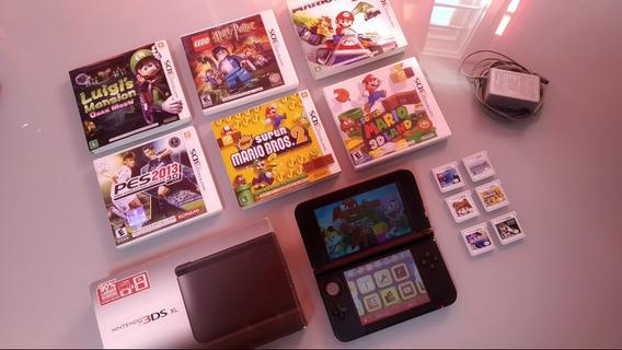 Nintendo 3ds Xl + 6 Jogos