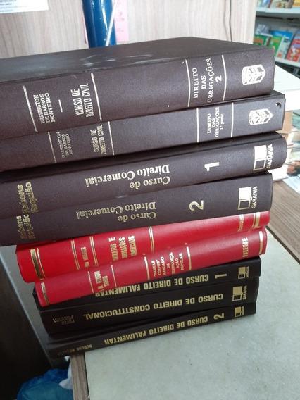 Kit 9 Livros Para Decoração Capa Dura Com Dourado