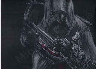 Lapiz Blanco Sobre Negro   Altaïr   Assassin