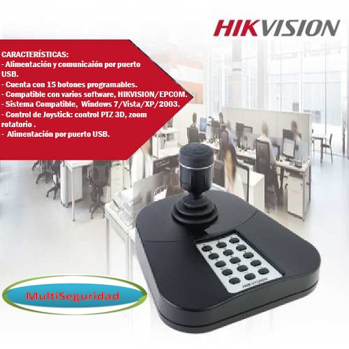 Joystick Usb Para Cámaras Ptz Hikvision/epcom Ds-1005ki