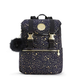 Mochila Experience S Azul Golden Night Kipling