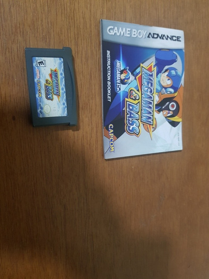 Megaman E Bass Usado Original Manuais Usa Game Boy Advance.